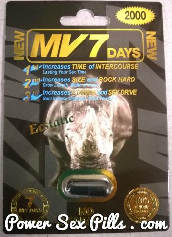 MV7 Days Rhino 2000mg Rhino 7 3000
